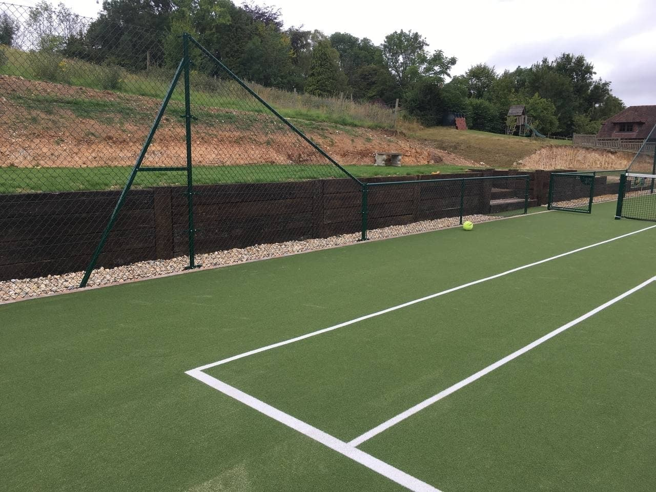 Newly construct tennis court in Sussex